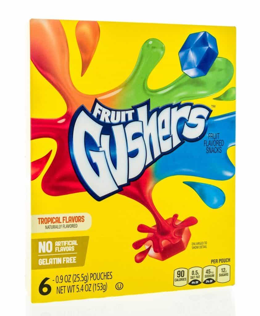 are fruit gushers vegan